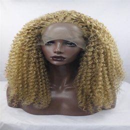 Light brown highlights blonde hair australia new featured light kabell fashion lave front wig bouncy curly synthetic lace front wigs brown highlight blonde color mixed layered heat resistant afro women pmusecretfo Gallery