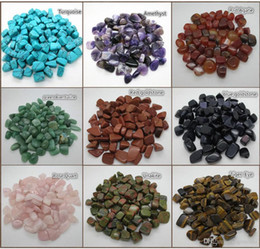 wish coin Canada - Wholesale 100g 15~25MM Natural Crystal Agate Tumbled stone Beads Chakra Healing reiki & lucky wish stone beads jewelry accessories