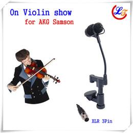 mini xlr 2019 - Professional Instrument Violin Microphone Mandolin Viola Mic for  Samson Wireless System with 30 to 45mm Thickness XLR M