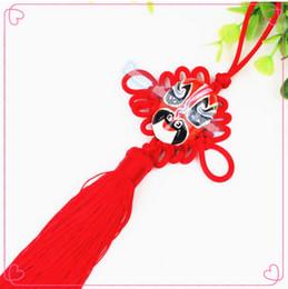 China Curtains Wholesalers UK - 6pcs Free shipping Chinese Queen Beijing opera mask pendant pendant small knot pendant wedding festive reunion Home Furnishing decoration