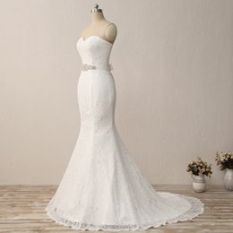 cheap xl wedding dresses NZ - Cheap Under 100 Wedding Dresses 2018 Sweetheart Lace Sash Long Train Wedding Gowns Mermaid Bohemian Formal Dresses For Wedding