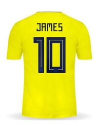 China Discount Cheap 18-19 10 James Customized Thai Quality Soccer Jerseys shirts,9 Falcao 11 Cuadrado 7 Bocca 8 Aguilar 6 C.Sanchez soccer wear supplier james s suppliers