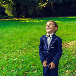 $enCountryForm.capitalKeyWord Canada - 2015 New Hot Sale Custom Made Handsome Romantic Kids' Tuxedos Navy Boys' Suit Wedding Party Boys' Formal Occasion Sui (Jacket+Pants+Bow Tie)