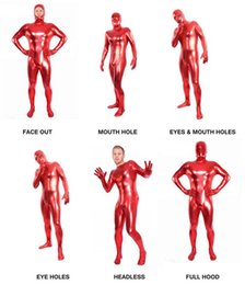 red zentai latex Canada - 2016 sale new DS costumes red leather leotard Costumes & Cosplay latex Halloween adhesive coated solid tight clothing jum