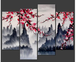 Cherry Blossom Canvas Wall Art discount piece cherry blossom canvas wall art | 2017 piece cherry
