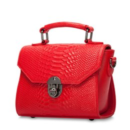 $enCountryForm.capitalKeyWord NZ - B054H Hot Sale Serpentine Genuine Leather Women Handbags Real Leather Tote Bags Shoulder Bag Crossbody Bags Female Small Bag Bolsa sac