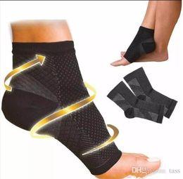Ingrosso Calzini da corsa all'aperto del ciclo del ciclo della calzamaglia di sport di compressione del piede di anti ansimani della calzamaglia di compressione del piede di angelo di piede Trasporto libero