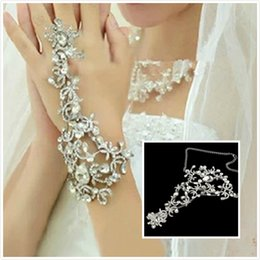 $enCountryForm.capitalKeyWord Canada - New Coming Fashion Bridal Bracelet Wedding Jewelry Crystal Rhinestones Finger Ring Bracelet Wristband Bracelet Party Prom Jewelry