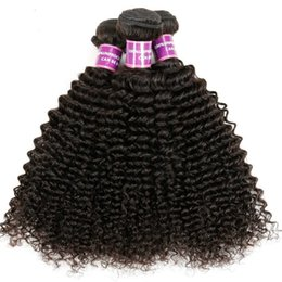 Bundle Hair Weave NZ - Brazilian 4PC Hair Bundle Kinky Curly Virgin Hair Grade 7A Remy Hair Weave Unprocessed Raw Hair Product