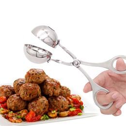 Bequemer Fleischklöschenhersteller-Edelstahl-angefüllter Fleischklammer-DIY Fisch-Fleisch-Reis-Kugel-Hersteller Freies Verschiffen im Angebot