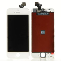 5s Screen Digitizer Canada - For iphone 5 5S 5C Display Digitiz Digitizer LCD Screen Touch Assembly Black White Good Quality Free DHL