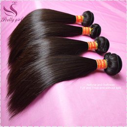 Eurasian Human Hair Weave NZ - Brazilian Virgin Hair Straight Unprocessed Human Hair Weave Bundles 8A Peruvian Malaysian Indian Eurasian Cambodian Hair Wefts Natural Color