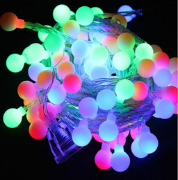 Discount red light face lamps - Colorful 5 metre 110-220V LED Fairy tale String Light Garden For Wedding Lamp Decoration Christmas and Birthday Party De
