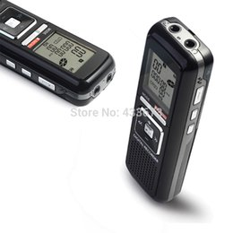 Voice Activated Audio Digital NZ - Wholesale-Portable 8GB 384KBPS Voice Activated 650h USB Digital Audio Voice Recorder Dictaphone Stereo MP3 Player Black Free Shipping