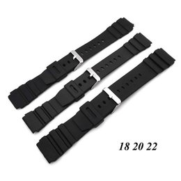 $enCountryForm.capitalKeyWord Australia - Wholesale- 1PC Silicone Rubber Watch Strap Band Deployment Buckle Diver Waterproof 18mm - 22mm Watch Band