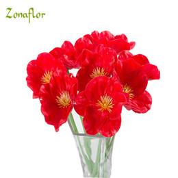 $enCountryForm.capitalKeyWord NZ - Zonaflor 20pcs Lot Pu Artificial Flowers Mini Poppy Real Touch Wedding Decorative Fake Flower Home Decoration Accessories