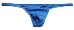 #11001BU men sexy U bag low rise seamless comfortable cotton thong T-string g-string men's underwear lingerie cuecas on Sale