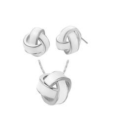 Дешевые серьги и кулон ожерелье наборы Spherosome форма элегантный дизайн дамы свадебные украшения для новобрачных G079 на Распродаже