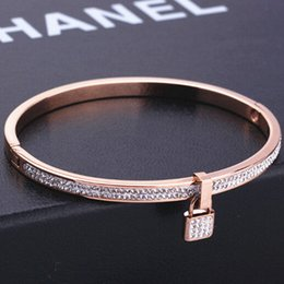 african gold men bangle 2019 - Simple Style Bangle Fashion key Jewelry Wholesale Men Women Gift Trendy 18K Real Gold Plated bracelets bangles for women
