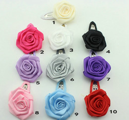 New Arrive Fashion 4cm rose flower BB clip Children headdress Hair bands Children Hairpin Value For BB Clip Bow 10pcs lot HD3322 cheap rose value from rose value suppliers