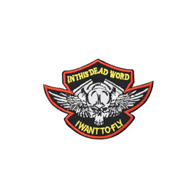 $enCountryForm.capitalKeyWord UK - 1PCS Punk Skull with Wing Badges Patches for Motor Clothing DIY Iron on Embroidered Patch for Garment Jacket Sewing Accessories