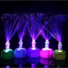 $enCountryForm.capitalKeyWord NZ - 7 Colour Fiber Optic Light Party Supplies Optical Fiber Flower Children's Toys flash Flowers for Wedding Party Christmas Celebration Gifts