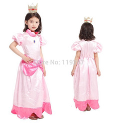 discount princess peach halloween costumes free shipping 1pce retail new children halloween the
