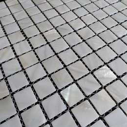 $enCountryForm.capitalKeyWord UK - [FREE SHIPPING] White color mother of pearl shell mosaic , 20x20mm for floor wall used, fresh water shell tile #MS090