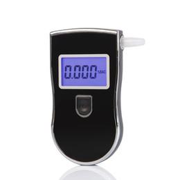 Toptan satış AT818 Alkol Nefes Tester Dijital Breathalyzer Mini Taşınabilir Profesyonel Alkol Monitör Mavi LCD Ekran Ses Alarm Tıbbi Malzemeleri