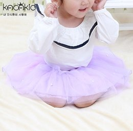 Lace Beaded Layered Dress Canada - Kids Lace Beading Tutu Puff Pleated Layered Tulle Skirts 20 Colors Girls Tutu Gauze Skirt Kids Clothes Lace Skirts Cute Party Dress