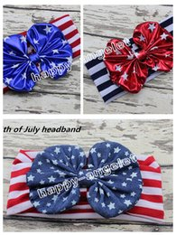 baby hair bands ribbons 2019 - 50pcs Infant knotted Wave point Turban Twist hair band bow flower WOMEN   Baby 4th of July headband Head Wrap Twisted st