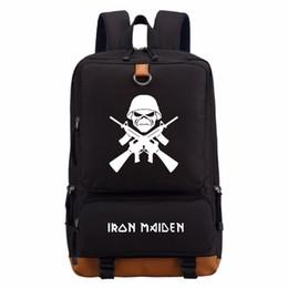 Toptan satış WISHOT Demir Kızlık için Klasik Ağır Metal Metallica Kaya sırt çantası gençler kadın erkek kızın Okul Çantaları seyahat Omuz Çantası