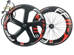 Bicycling Gear Canada - FFWD Five Spoke and 88mm Carbon Fibre Road Fixed Gear Wheels Clincher Tubualr Glossy Matte FFWD Carbon Bicycle Wheels Free Gifts