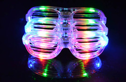 Discount festival light toys - Free EMS LED Light Shutter Glasses 2015 Flashing Shutters Shape LED Flash Glasses Party Supplies Festival Decoration Chr