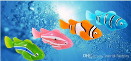Discount shark electronics - Novelty Robo fish shark Water Activated Magical Turbot Fish Christmas Magic Toys bath toys
