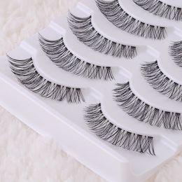 $enCountryForm.capitalKeyWord NZ - Wholesale-2015 New 5 Pairs Top Quality Cotton Stalk Black long thick false eyelashes fake eye lashes Free shipping