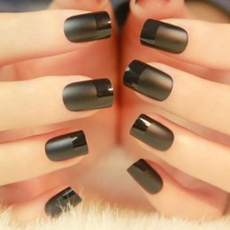 Décalcomanies Patchs Ongles Pas Cher-Hot Sale Mysterious Black Nail Art Patch Faux faux doigts, autocollant d'art, affichage Decals Tips.4.16370