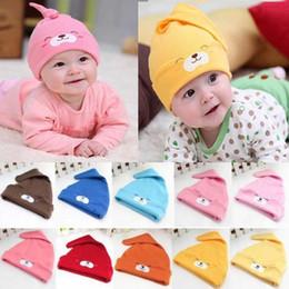 Newborn Animals Canada - 2015 Newborn Baby Infant Toddler Cute Bear Animal Hat Cotton Knotted Beanie Prop Cap
