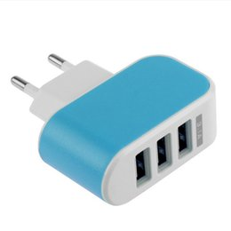 $enCountryForm.capitalKeyWord UK - 3 USB Ports wall Charger led light 5V 3.1A EU US plug USB Charger Travel Convenient Power Adapter for ipad iphone Samsung with retail box