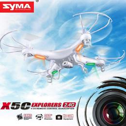 Syma Gyro Quadcopter Canada - New Version 360°Syma X5C-1 X5C RC Quadcopter Explorers 2.4Ghz 4CH 6-Axis Gyro 2GB TF Card with 2MP HD Camera RTF