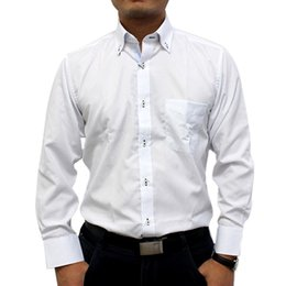 Mens White Button Down Shirt Long Sleeve Custom Shirt