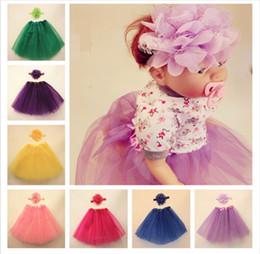 $enCountryForm.capitalKeyWord NZ - baby pettiskirts frozen princess tutu skirt, New Rainbow Girls Tutu Skirts with chiffon lace flower hair band accessories