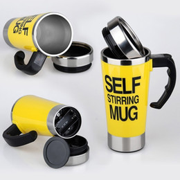 $enCountryForm.capitalKeyWord Canada - Personality Stainless steel coffee self stirring mug  keep warm mugs automatic mixing cup 450ML