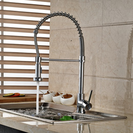$enCountryForm.capitalKeyWord Canada - Spring Kitchen Faucet Chrome Brass Vessel Sink Mixer Tap Swivel Spout Deck Mounted