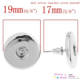 $enCountryForm.capitalKeyWord Canada - Nice Click Button Earring Post Round Silver Tone W Stoppers Fit Snaps Nice Buttons 19x17cm,3 Pairs (K01163)8seasons