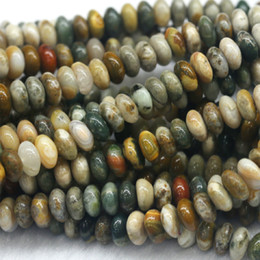 "$enCountryForm.capitalKeyWord Canada - Discount Wholesale Natural Rainbow Ocean Jasper Rondelle Loose Stone Jewelry Set Beads Fit Jewelry DIY Necklaces or Bracelets 16"" 03792"