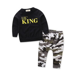$enCountryForm.capitalKeyWord NZ - Kids Clothing Sets Autumn Winter Boys Long Sleeve T-shirts + Pants Outfits Suits Children Casual Black Tops Camouflage Clothes 1-6Years Old