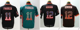 Barato Bordado De Estilo-New Style Mens # 12 Josh Gordon # 11 DeVante Parker American College Futebol Stitched Bordados Uniformes Sports Team Pro Jerseys à venda