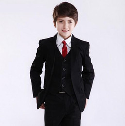 Hot Pink Formal Jacket Canada - Factory Price Hot Recommend Best Sale Boys Formal Occasion Tuxedos Wedding Kid Dress Suit (Jacket+Pants+Tie+Vest) NO:11