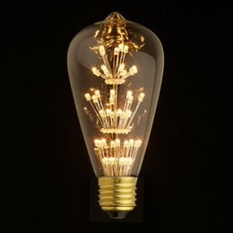 Discount vintage light g95 Antique Retro Vintage Edison Light Bulb E27 220V 3W Incandescent Light Bulbs ST64 A19 G95 led Cob Bulb Edison Lamps